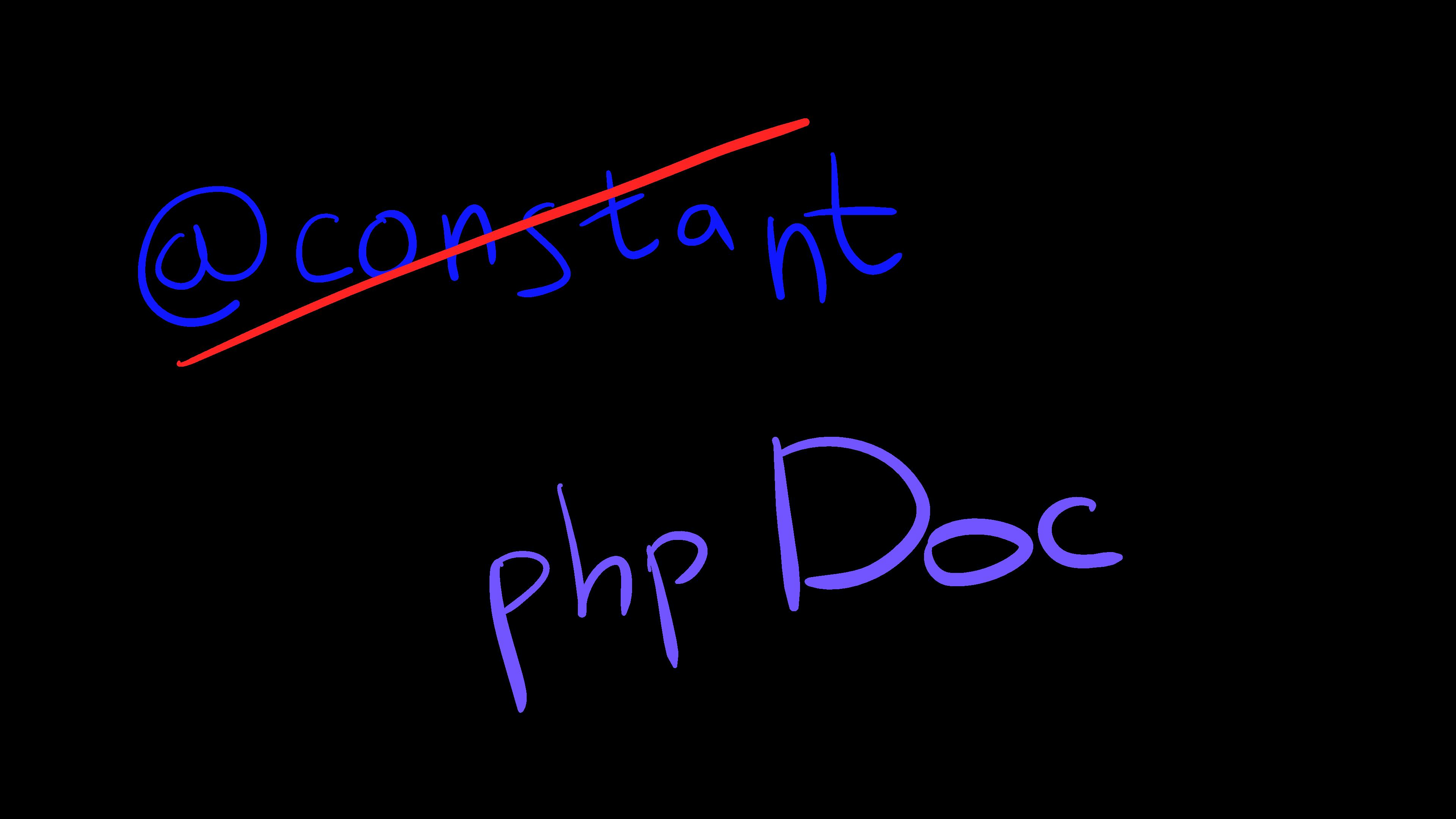 Как в phpDoc описать константу