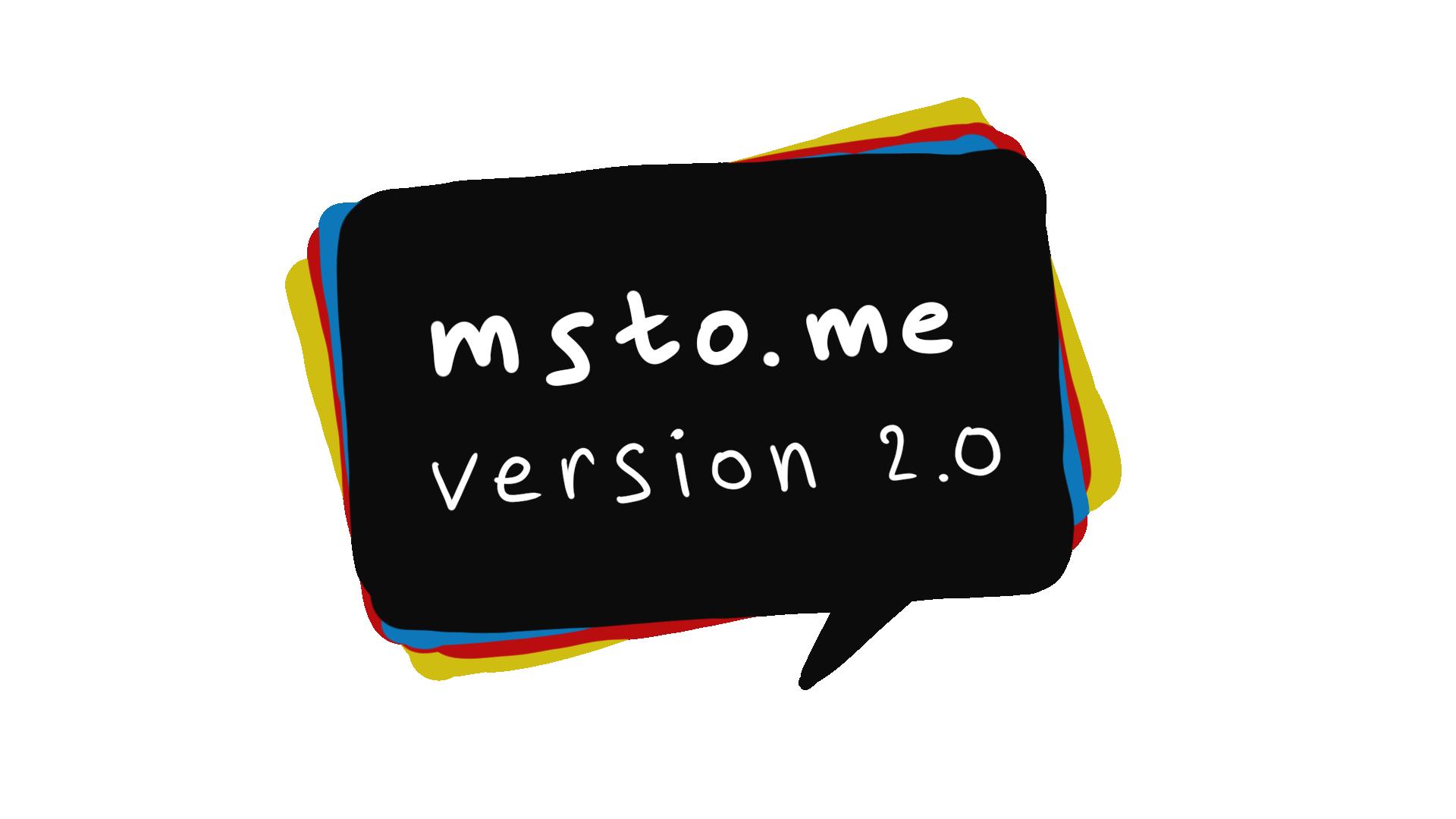 Обновление msto.me 31 октября 2020 и дальнейшие планы